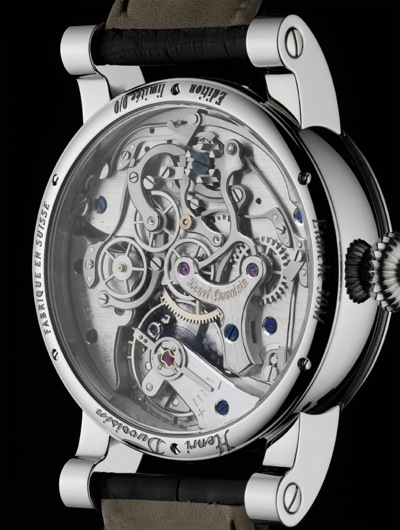 Mouvement du Chronographe monopoussoir © Jean-Marc Breguet